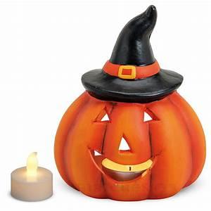 Halloween Deko Außen : k rbis windlicht laterne herbstdeko halloweendeko 14x11 cm ~ Jslefanu.com Haus und Dekorationen
