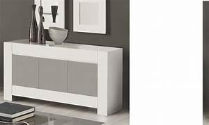 Buffet Gris Laqué : buffet bahut gris et blanc laqu design totti 2 ~ Teatrodelosmanantiales.com Idées de Décoration