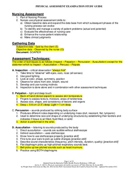 4 year old well child exam form physical assessment exam study guide