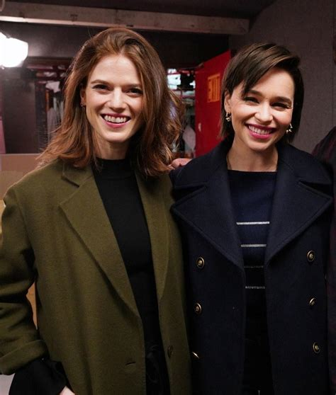 Game of Thrones 's Emilia Clarke and Rose Leslie Just Went ...