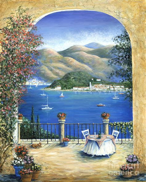 from the terrace bellagio lake como from the terrace painting by marilyn dunlap