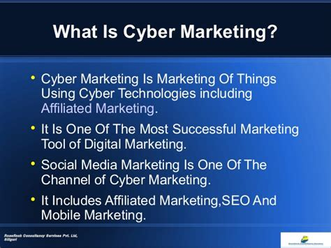 Cyber Marketing cyber marketing and employment opportunity
