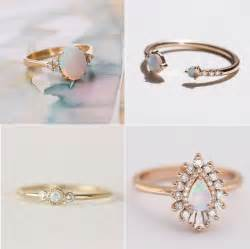 engagement rings with opal opal engagement rings popsugar