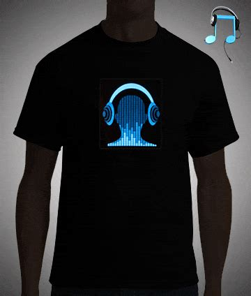 headphones dj eq responsive led shirt