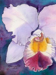 Watercolor-Orchid | Watercolor flowers | Pinterest