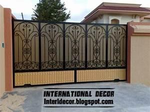 modern sliding iron gate designs uk sliding iron gates With iron gate designs for homes