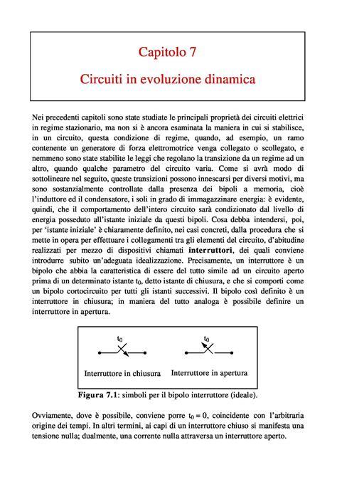 Dispensa Elettrotecnica by Elettrotecnica I Circuiti In Evoluzione Dinamica Dispense