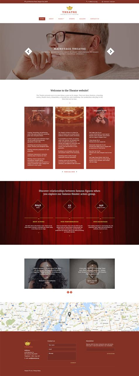 Theatre Responsive Website Template by Theater Responsive Joomla Template 64379