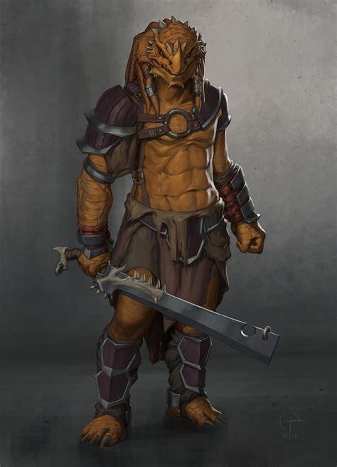 artstation dragonborn barbarian ted ottosson