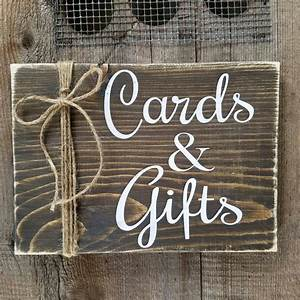 Cards, And, Gifts, Sign, Cards, Wood, Sign, Rustic, Wedding, Sign, Cards