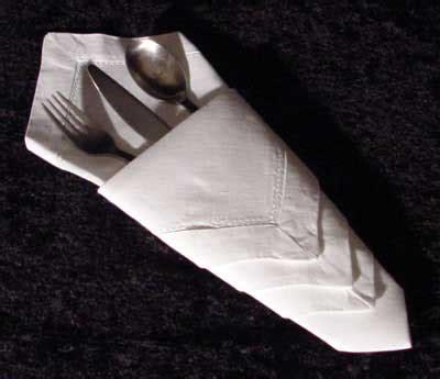 fancy napkin folding first you make a roux fancy napkin folding the diamond pouch