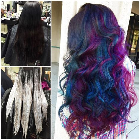 Cosmic Oil Slick Hair Colors Ideas