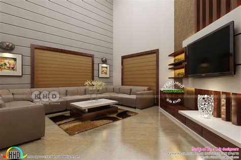 Living Room Area Design by Dining Area And Living Interior Designs Kerala Home