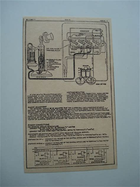 Antique Phone Wiring Diagram by Western Electric 334a Ringer Subset Box Wiring Diagram