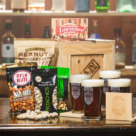 personalized barware crate gifts for guys