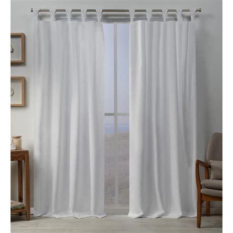 Tab Top Drapes Curtains - exclusive home curtains loha linen braided tab top curtain