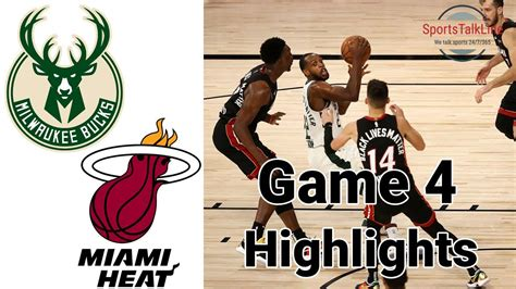 The miami heat visit the milwaukee bucks in game 1 of their first round eastern conference nba playoff series. Bucks vs Heat HIGHLIGHTS Halftime | NBA Playoff Game 4 ...