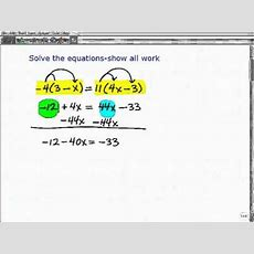 Ged Exam Help With How To Solve Algebra Equations Youtube