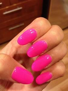 Hot pink rounded nails | Nails | Pinterest | Rounded Nails ...