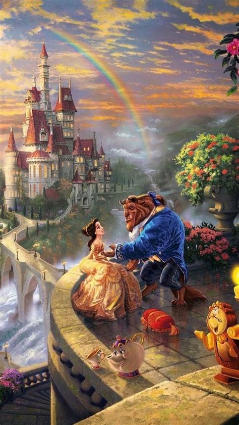 la bella  la bestia disney wallpapers iphone  android