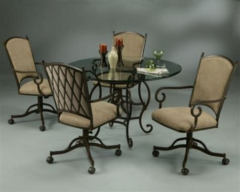 dinette sets with rolling chairs images pastel