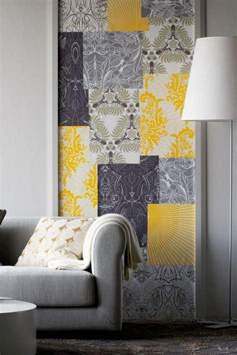 Wandgestaltung Tapete Wohnzimmer by Eine Gelbe Tapete Im Schlaf Oder Wohnzimmer Wirkt Sehr