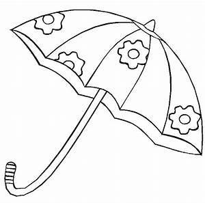 Un lindo paraguas Dibujalia Dibujos para colorear Elementos y Objetos del Entorno