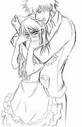 Maid Sama Anime Coloring Drawing Kaichou Wa Characters Usui Deviantart sketch template