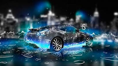 3d Wallpapers Water Neon Nissan Desktop Digital