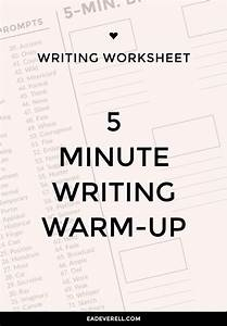 5 Minute Freewrite  Journal Worksheet Wednesday