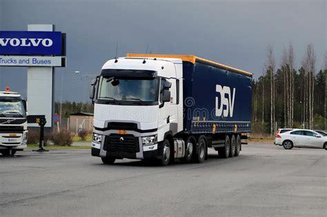 volvo truck service center renault trucks t semi on demo drive event editorial photo
