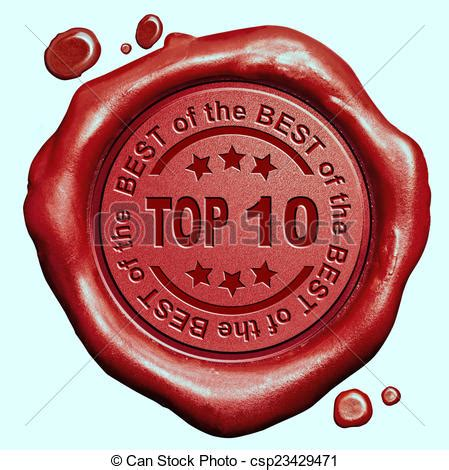 Top 10 Stamp Top 10 Chart Ranking Or Winners Result Red