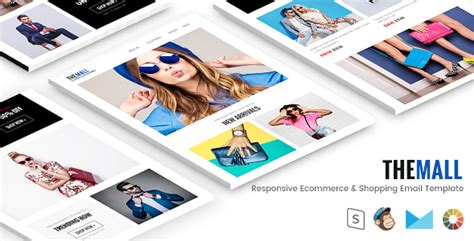 email template shopping the mall responsive ecommerce shopping email template