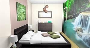 deco chambre zen vert gris With deco chambre adulte zen