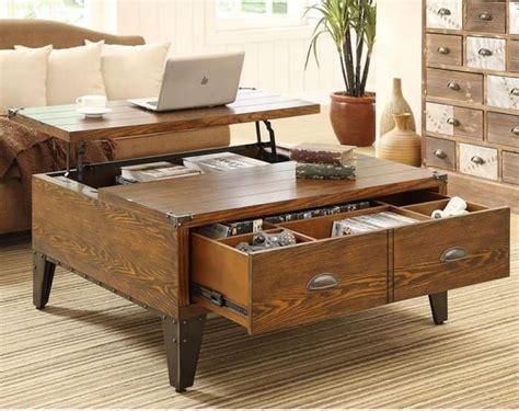 la table basse avec tiroir  meuble pratique  deco