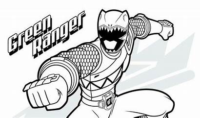 Coloring Power Pages Rangers Morphin Mighty Ninja