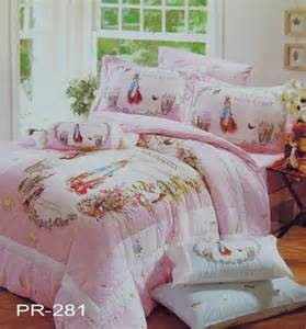 beatrix rabbit fitted sheet pillowcase comforter bedding set pr