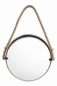 Miroir Rond Suspendu : 1000 id es sur le th me miroir de corde sur pinterest cordes miroirs et nautique ~ Teatrodelosmanantiales.com Idées de Décoration