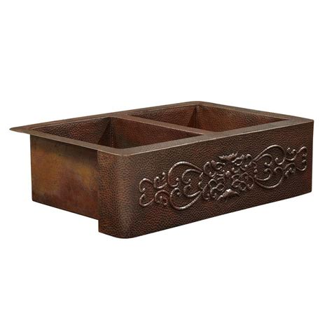 Copper Apron Front Sink Home Depot by Sinkology Bernini Farmhouse Apron Front Copper Sink 25 In