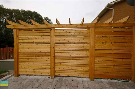 interlocking patio cedar privacy screen and pergola m e