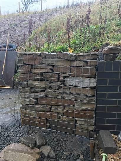 Gabion Wall Retaining Walls Construction Water Compromising
