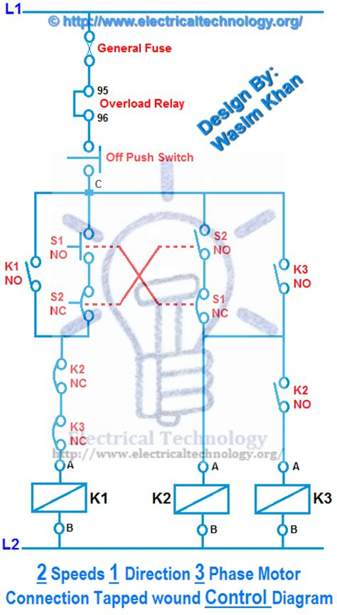 3 phase two speed motor wiring diagram electrical