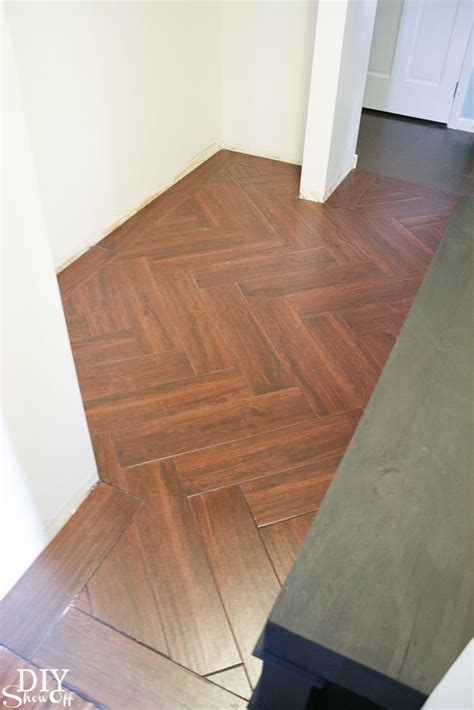 kitchen wood flooring diy show herringbone pattern tile flooring and 3508