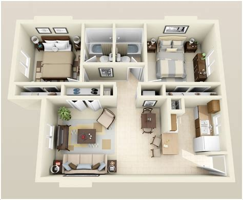open floor plan home designs 10 awesome two bedroom apartment 3d floor plans