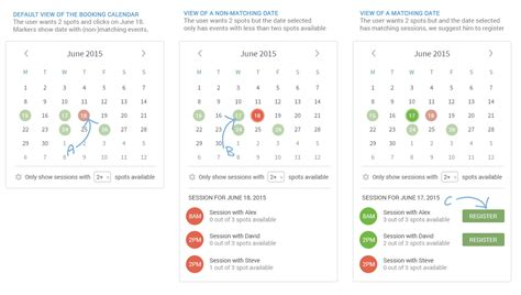 usability ux choose monthdaytime reservation