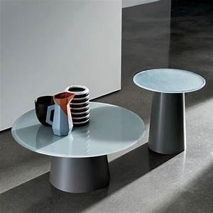 Table Basse Panier : table basse design ronde en verre totem sovet 4 ~ Teatrodelosmanantiales.com Idées de Décoration