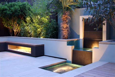 modern garden waterfall contemporary garden design by amir schlezinger london beautiful and highly liveable modern