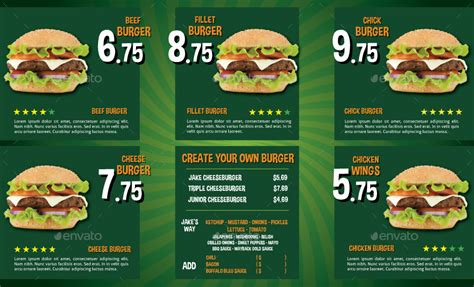 Tri Fold Take Out Menu Template Google Docs Deli by The Big Burger Menu By Serzik Graphicriver