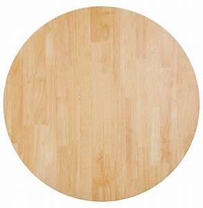 Plateau Rond Bois : plateau de table massivo rond en bois massif 70 cm ~ Melissatoandfro.com Idées de Décoration