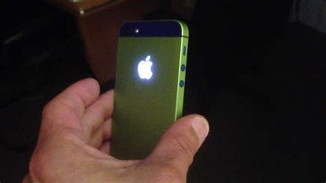 customize iphone 5s iphone 5 customized to blue and green with a light mod